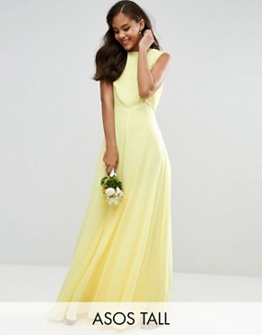photo Maxi Dress by ASOS TALL WEDDING, color Yellow - Image 1