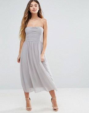 photo Bandeau Midi Dress by Vila, color Cream - Image 2