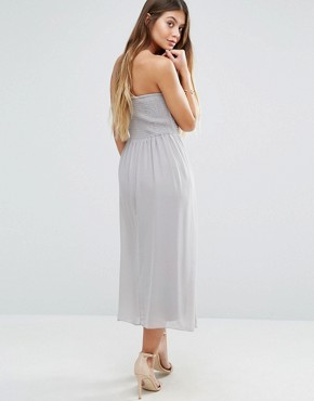 photo Bandeau Midi Dress by Vila, color Cream - Image 1