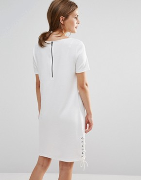 photo Shift Dress With Tie Detail by Vila, color Snow White - Image 2