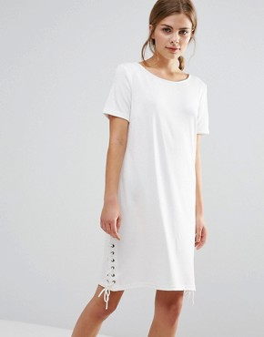 photo Shift Dress With Tie Detail by Vila, color Snow White - Image 1
