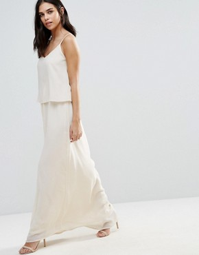 photo Overlay Maxi Dress by Vila, color Pink Tint - Image 1