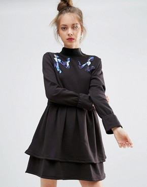 photo Night Flower Dress by ZIZTAR, color Black - Image 1