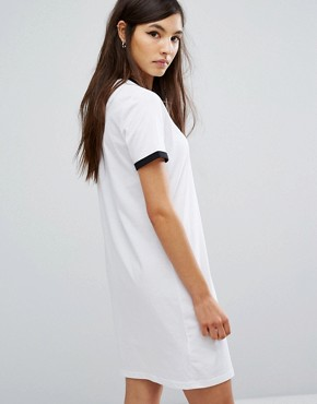 photo Archive Ringer T-shirt Dress by Fred Perry, color White - Image 2