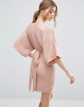 photo 70's Belted Mini Dress by ASOS, color Nude - Image 2