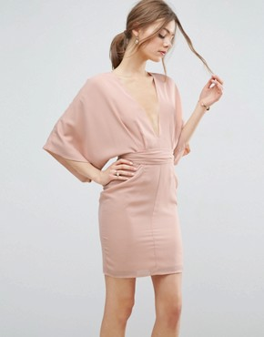 photo 70's Belted Mini Dress by ASOS, color Nude - Image 1