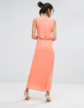 photo Eternity Maxi Dress with Overlay Top by Jovonna, color Pink - Image 2
