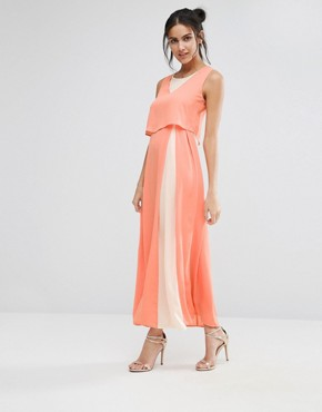 photo Eternity Maxi Dress with Overlay Top by Jovonna, color Pink - Image 1