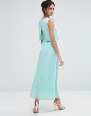 photo Eternity Maxi Dress with Overlay Top by Jovonna, color Mint - Image 2