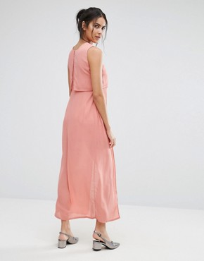 photo Icing On The Cake Midi Dress by Jovonna, color Salmon - Image 2
