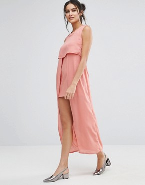 photo Icing On The Cake Midi Dress by Jovonna, color Salmon - Image 1