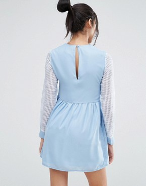 photo Right Direction Skater Dress by Jovonna, color Blue - Image 2