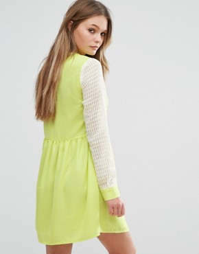 photo Right Direction Skater Dress by Jovonna, color Yellow - Image 2