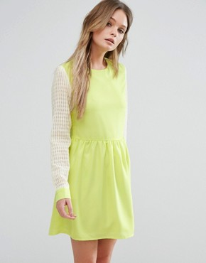 photo Right Direction Skater Dress by Jovonna, color Yellow - Image 1
