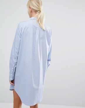 photo Shirt Dress with Lace Panel by Sportmax Code, color Light Blue - Image 2