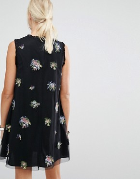 photo A-Line Dress with Embellishment by Sportmax Code, color Black - Image 2