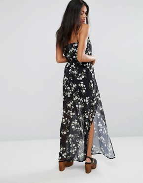 photo Ditsy Floral Print Maxi Cami Dress With Side Split by Liquorish, color  - Image 2