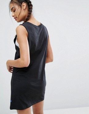 photo Black Trefoil Tank Dress by Adidas Originals, color Black - Image 2