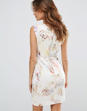 photo Tiger Shark Printed Cap Sleeve Dress by French Connection, color Brule Multi - Image 2