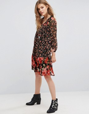 photo Anastasia Printed Dress by French Connection, color Black Multi - Image 1