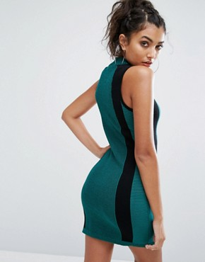 photo EQT Knitted Bodycon Dress by Adidas Originals, color Green - Image 2