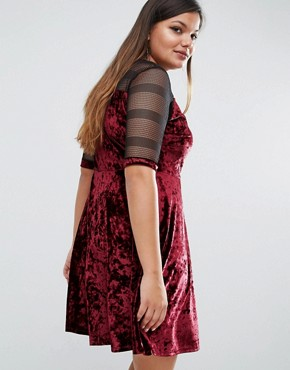 photo Velvet Skater Dress by Pink Clove, color Purple - Image 2