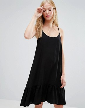 photo Vea Dropped Waist Cami Dress by Gestuz, color Black - Image 1