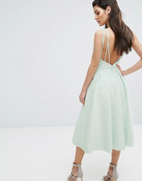 photo Cosmos Dress with Full Skirt by The 8th Sign, color Pale Mint - Image 2