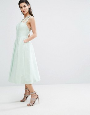 photo Cosmos Dress with Full Skirt by The 8th Sign, color Pale Mint - Image 4