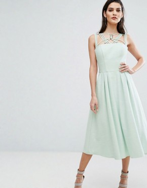 photo Cosmos Dress With Full Skirt by The 8th Sign, color Pale Mint - Image 1