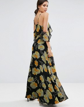 photo Cold Shoulder Floral Cami Maxi Dress by ASOS, color  - Image 2