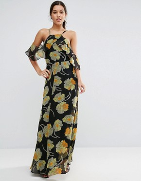photo Cold Shoulder Floral Cami Maxi Dress by ASOS, color  - Image 1