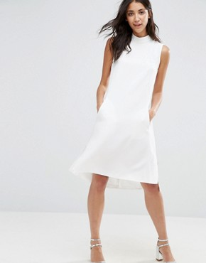 photo Sleeveless Collared Tunic by Closet London, color White - Image 2