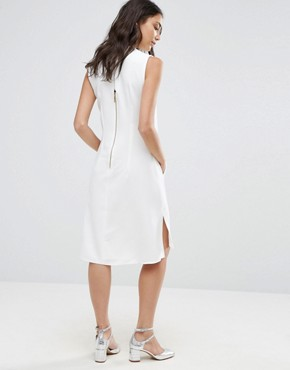 photo Sleeveless Collared Tunic by Closet London, color White - Image 1