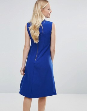 photo Sleeveless Collared Tunic Dress by Closet London, color Cobalt Blue - Image 2