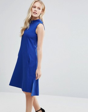photo Sleeveless Collared Tunic Dress by Closet London, color Cobalt Blue - Image 1