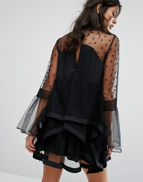 photo Daydream Frill Dress by Stevie May, color Black - Image 2