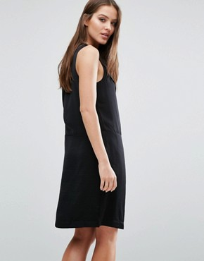 photo Lina Tailored Dress with V-neck by Selected Femme, color Black - Image 2
