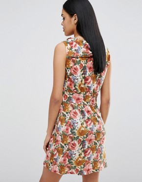 photo Floral Skater Dress by Pussycat London, color Brown - Image 2