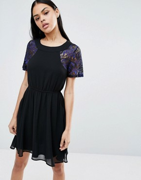 photo Skater Dress by Pussycat London, color Navy - Image 1
