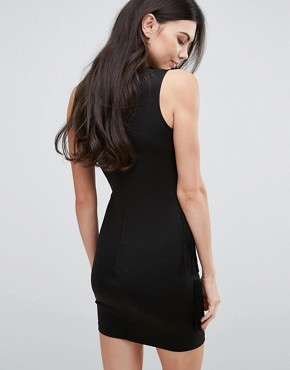 photo High Neck Dress with Fringed Detail by Love & Other Things, color Black - Image 2