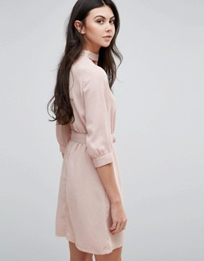 photo Belted Wrap Dress by Love & Other Things, color Pink - Image 2
