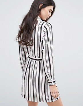 photo Striped Belted Shirt Dress by Love & Other Things, color  - Image 2