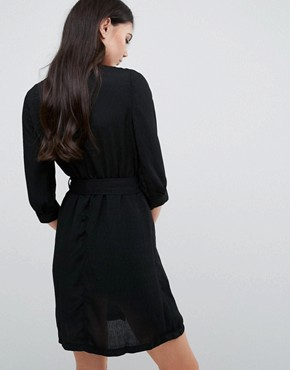 photo Choker Wrap Dress by Love & Other Things, color Black - Image 2