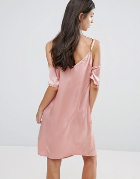 photo Off The Shoulder Slip Dress by Vero Moda Petite, color Pink - Image 2