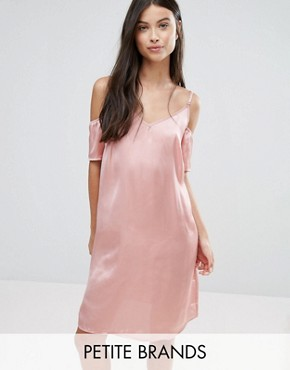 photo Off The Shoulder Slip Dress by Vero Moda Petite, color Pink - Image 1