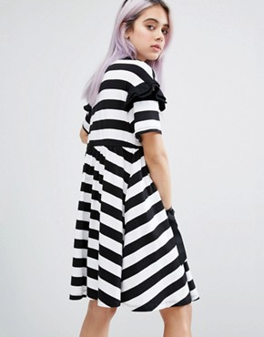 photo Used To Be Weird T-Shirt Dress by Lazy Oaf, color  - Image 2