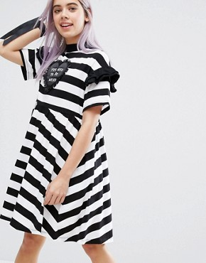 photo Used To Be Weird T-Shirt Dress by Lazy Oaf, color  - Image 1