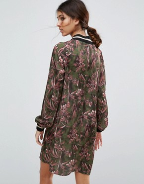 photo Satin Shift Dress in Pixelated Floral Print by ASOS TALL, color  - Image 2