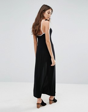 photo Wrap Maxi Dress by Wal G, color Black - Image 2